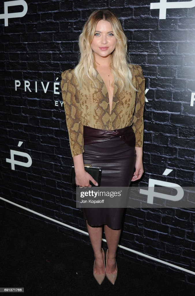 Actress Ashley Benson arrives at Prive Revaux Launch Event at Chateau Marmont on June 1, 2017 in Los Angeles, California.