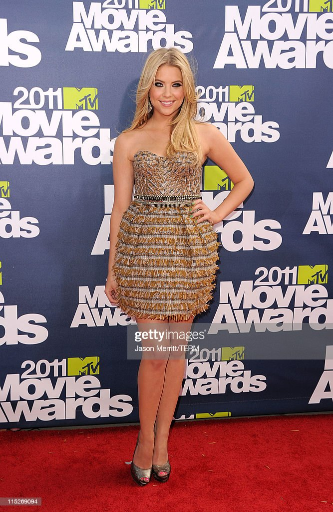 Actress Ashley Benson arrives at the 2011 MTV Movie Awards at Universal Studios' Gibson Amphitheatre on June 5, 2011 in Universal City, California.