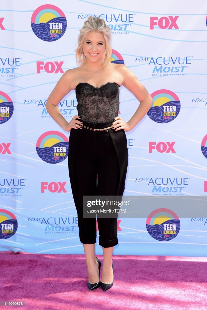 Actress Ashley Benson arrives at the 2012 Teen Choice Awards at Gibson Amphitheatre on July 22, 2012 in Universal City, California.