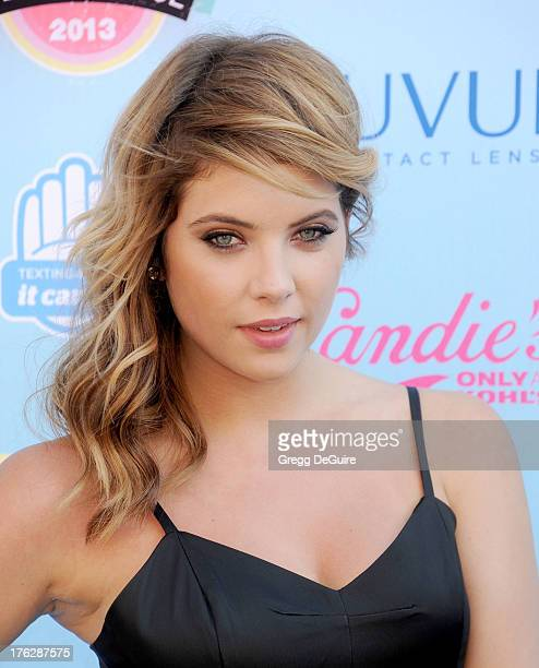 Actress Ashley Benson arrives at the 2013 Teen Choice Awards at Gibson Amphitheatre on August 11 2013 in Universal City California