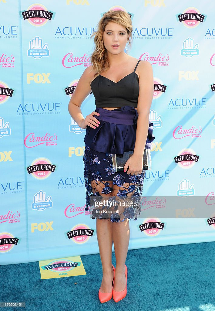 Actress Ashley Benson arrives at the 2013 Teen Choice Awards at Gibson Amphitheatre on August 11, 2013 in Universal City, California.