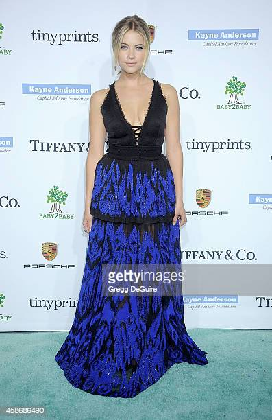 Actress Ashley Benson arrives at the 2014 Baby2Baby Gala presented by Tiffany Co honoring Kate Hudson at The Book Bindery on November 8 2014 in...