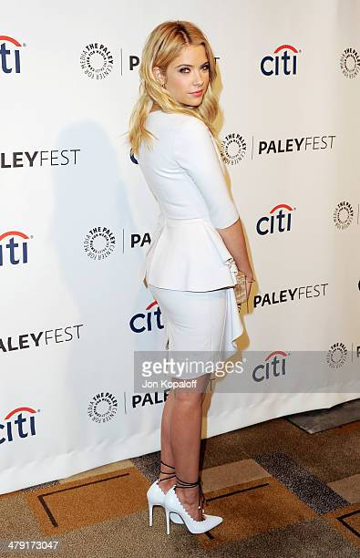 Actress Ashley Benson arrives at the 2014 PaleyFest 'Pretty Little Liars at Dolby Theatre on March 16 2014 in Hollywood California