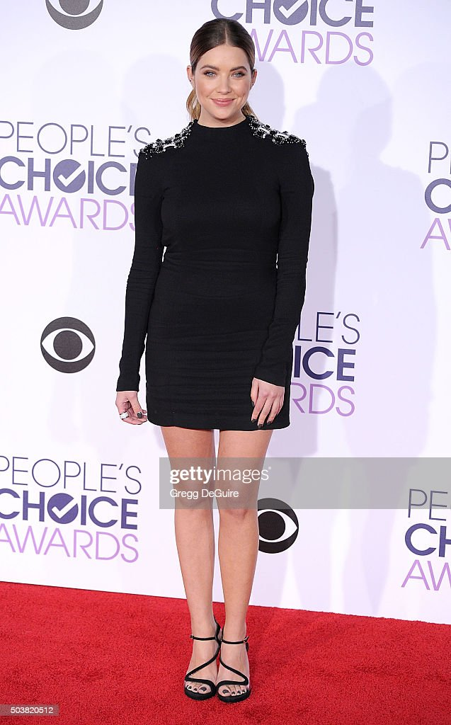 Actress Ashley Benson arrives at the 2016 People's Choice Awards at Microsoft Theater on January 6, 2016 in Los Angeles, California.
