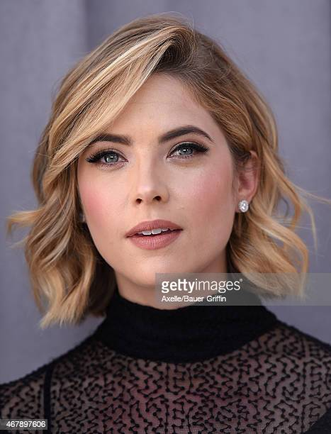 Actress Ashley Benson arrives at the Comedy Central Roast of Justin Bieber on March 14 2015 in Los Angeles California