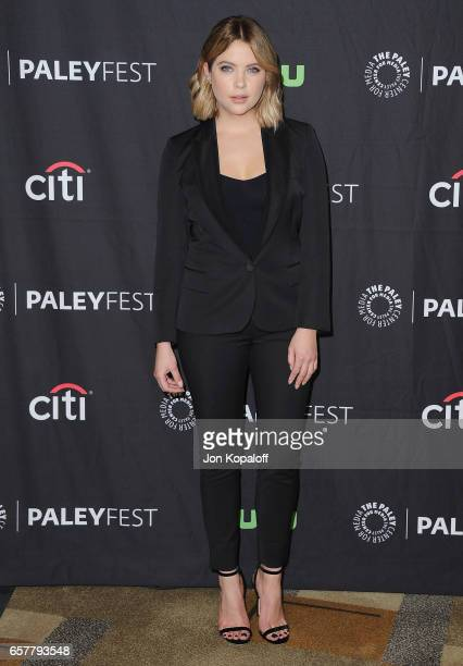 Actress Ashley Benson arrives at The Paley Center For Media's 34th Annual PaleyFest Los Angeles 'Pretty Little Liars' at Dolby Theatre on March 25...