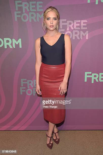Actress Ashley Benson attends 2016 ABC Freeform Upfront at Spring Studios on April 7 2016 in New York City