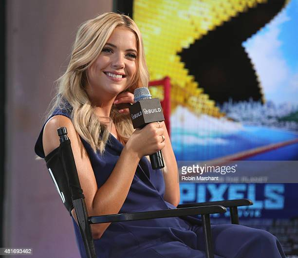 Actress Ashley Benson attends AOL BUILD Speaker Series Ashley Benson Discusses Her Film 'Pixels' at AOL Studios In New York on July 23 2015 in New...
