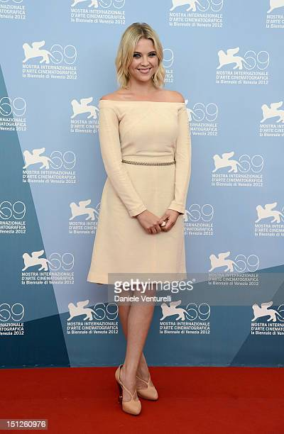 Actress Ashley Benson attends 'Spring Breakers' Photocall during The 69th Venice Film Festival at the Palazzo del Casino on on September 5 2012 in...
