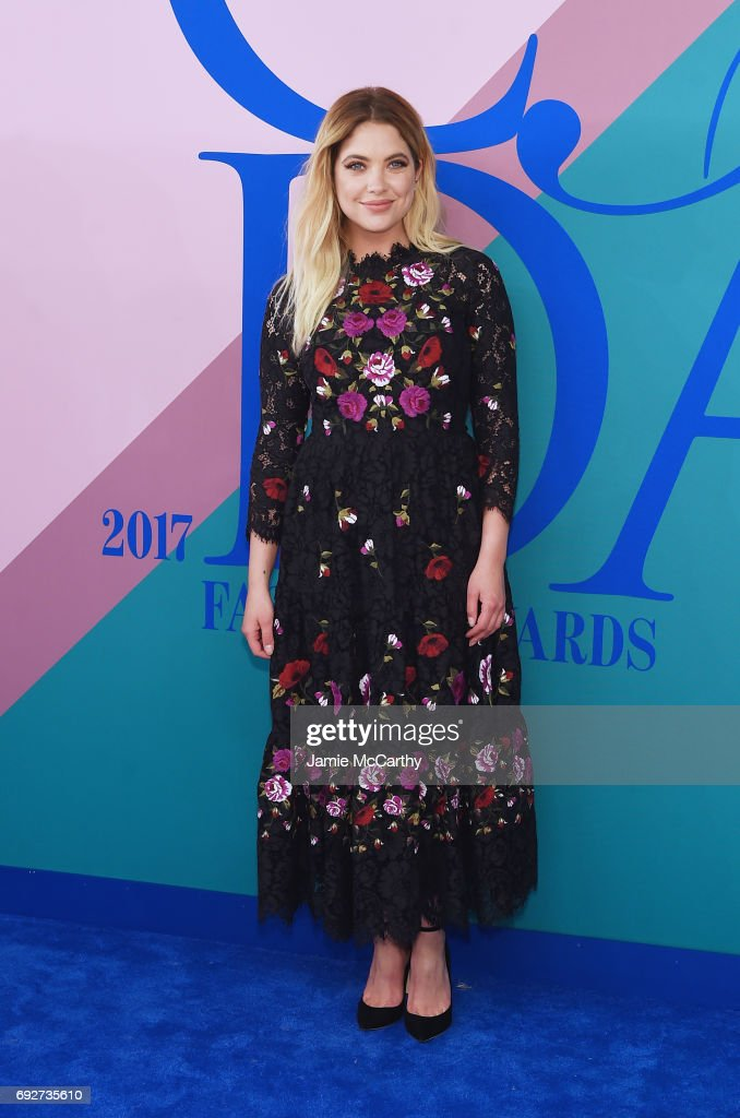 Actress Ashley Benson attends the 2017 CFDA Fashion Awards at Hammerstein Ballroom on June 5, 2017 in New York City.