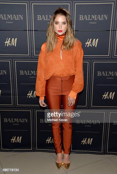 Actress Ashley Benson attends the Balmain x HM Los Angeles VIP PreLaunch on November 4 2015 in West Hollywood California