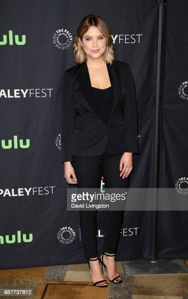 Actress Ashley Benson attends The Paley Center for Media's 34th Annual PaleyFest Los Angeles presentation of 'Pretty Little Liars' at Dolby Theatre...