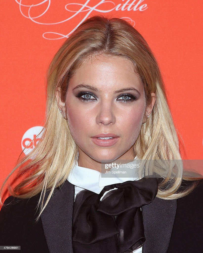 Actress <a gi-track='captionPersonalityLinkClicked' href=/galleries/search?phrase=Ashley+Benson&family=editorial&specificpeople=594114 ng-click='$event.stopPropagation()'>Ashley Benson</a> attends the 'Pretty Little Liars' season finale screening at Ziegfeld Theater on March 18, 2014 in New York City.