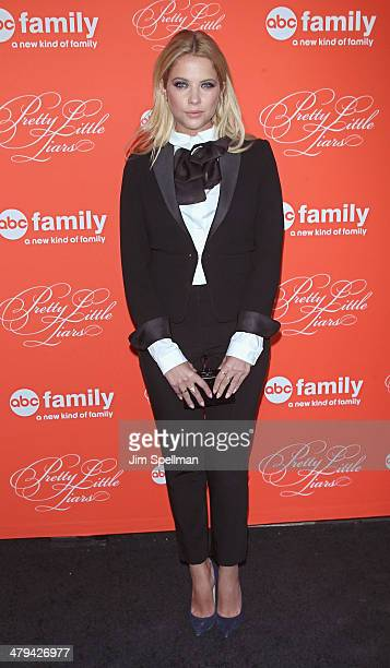 Actress Ashley Benson attends the 'Pretty Little Liars' season finale screening at Ziegfeld Theater on March 18 2014 in New York City