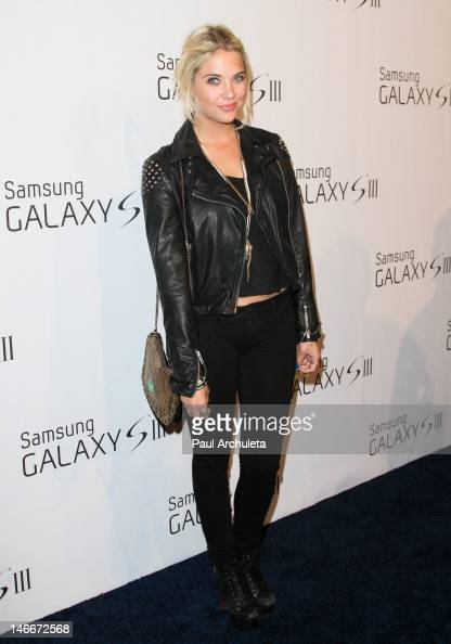 Actress Ashley Benson attends the Samsung Mobile launch party for the Samsung Galaxy S III on June 21 2012 in Beverly Hills California