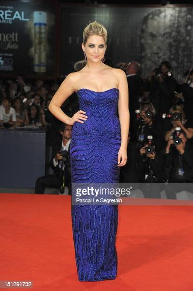 Actress Ashley Benson attends the 'Spring Breakers' Premiere during The 69th Venice Film Festival at the Palazzo del Cinema on September 5 2012 in...