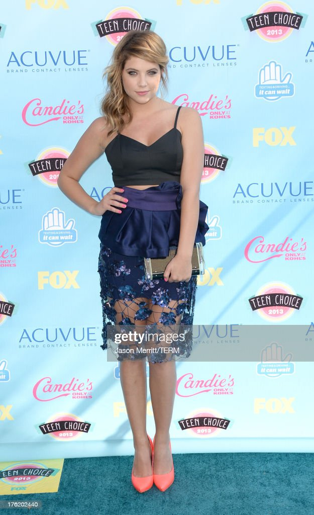 Actress Ashley Benson attends the Teen Choice Awards 2013 at Gibson Amphitheatre on August 11, 2013 in Universal City, California.