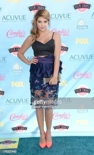 Actress Ashley Benson attends the Teen Choice Awards 2013 at Gibson Amphitheatre on August 11 2013 in Universal City California