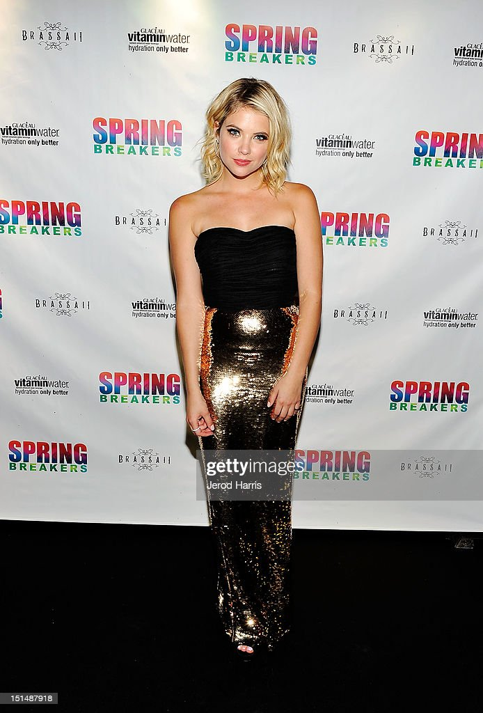 Actress Ashley Benson attends the vitaminwater post party for the cast of 'Spring Breakers' during the 2012 Toronto International Film Festivalat Brassaii on September 7, 2012 in Toronto, Canada.