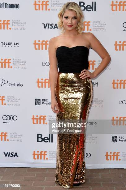Actress Ashley Benson attends the'Spring Breakers' premiere during the 2012 Toronto International Film Festival at Ryerson Theatre on September 7...