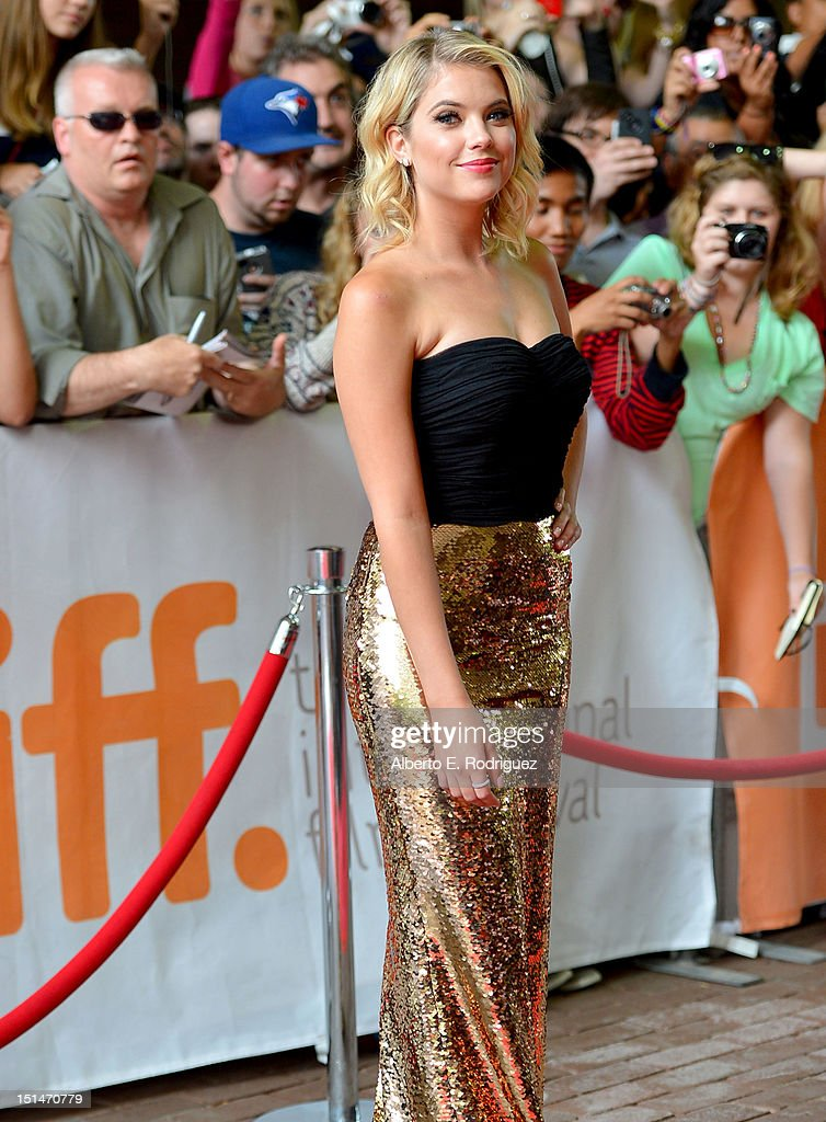 Actress Ashley Benson attends the'Spring Breakers' premiere during the 2012 Toronto International Film Festival at Ryerson Theatre on September 7, 2012 in Toronto, Canada.