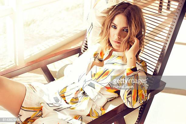 Actress Ashley Benson is photographed for Ocean Drive Magazine on November 20 2015 in Los Angeles California Published Image