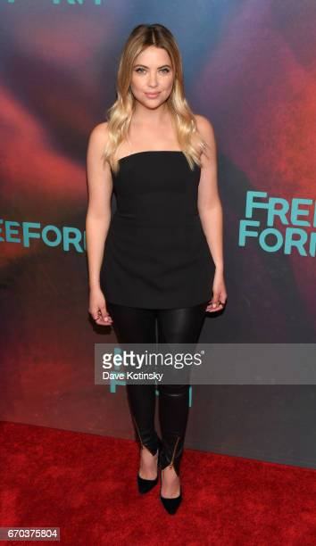 Actress Ashley Benson of 'Pretty Little Liars' attends Freeform 2017 Upfront at Hudson Mercantile on April 19 2017 in New York City