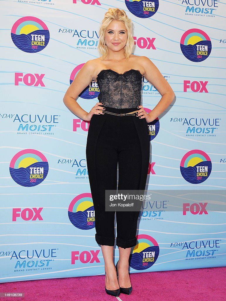 Actress Ashley Benson poses in the press room at the 2012 Teen Choice Awards at Gibson Amphitheatre on July 22, 2012 in Universal City, California.