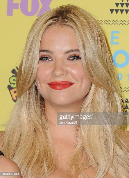 Actress Ashley Benson poses in the press room at the Teen Choice Awards 2015 at Galen Center on August 16 2015 in Los Angeles California