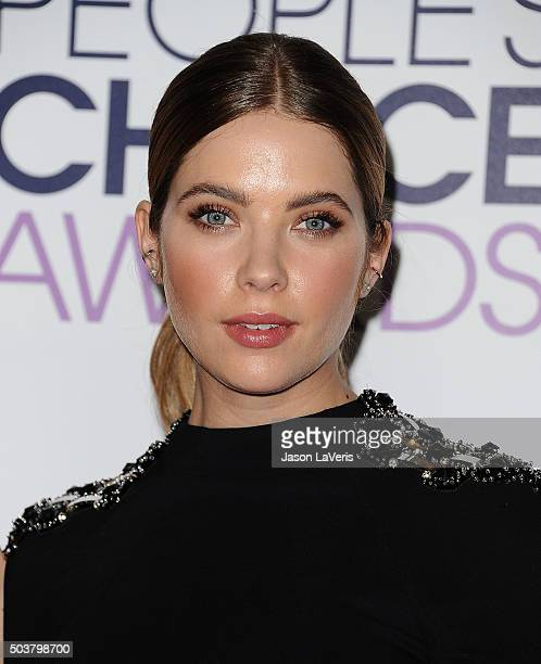 Actress Ashley Benson poses on the press room at the 2016 People's Choice Awards at Microsoft Theater on January 6 2016 in Los Angeles California