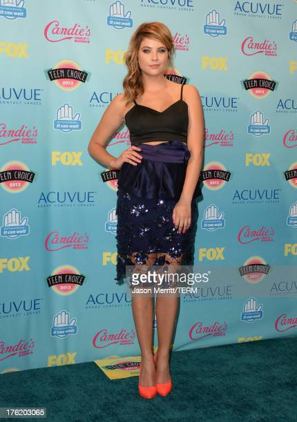Actress Ashley Benson winner of Choice TV Show Drama for 'Pretty Little Liars' attends the Teen Choice Awards 2013 at Gibson Amphitheatre on August...