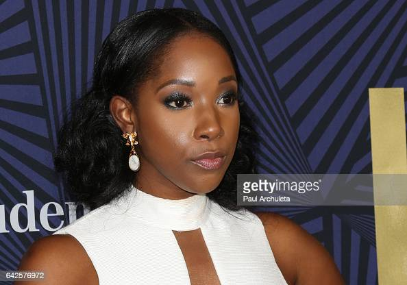 Actress Ashley Blaine Featherson attends the BET's 2017 American Black Film Festival Honors Awards at The Beverly Hilton Hotel on February 17 2017 in...