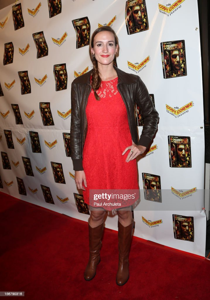 Actress Ashley Brown attends the Premiere of '6 Degrees Of Hell' at Laemmle's Music Hall 3 on November 20, 2012 in Beverly Hills, California.