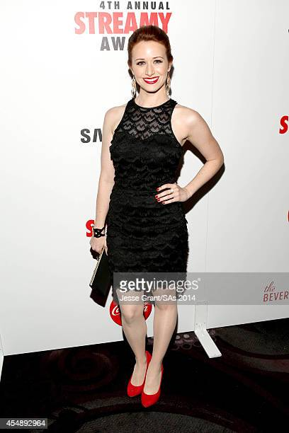 Actress Ashley Clements attends the 4th Annual Streamy Awards presented by CocaCola on September 7 2014 in Beverly Hills California