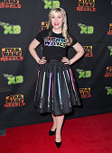 Actress Ashley Eckstein attends the premiere of Disney channel and Disney XD's 'Star Wars Rebels' season 2 at Anaheim Convention Center on April 18...