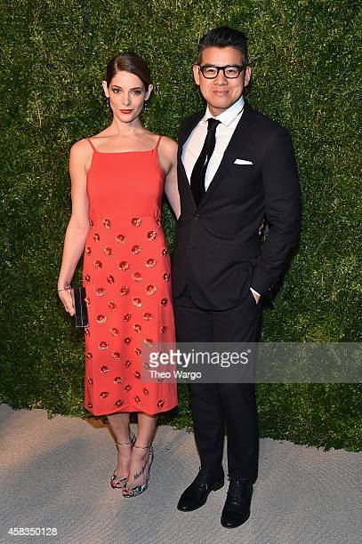 Actress Ashley Greene and designer Peter Som attend the 11th annual CFDA/Vogue Fashion Fund Awards at Spring Studios on November 3 2014 in New York...