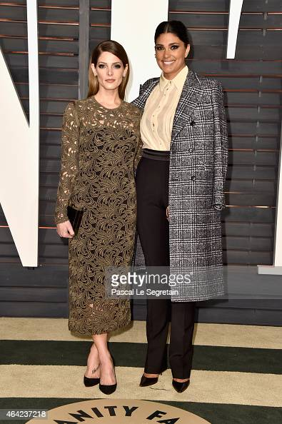 Actress Ashley Greene and fashion designer Rachel Roy attend the 2015 Vanity Fair Oscar Party hosted by Graydon Carter at Wallis Annenberg Center for...