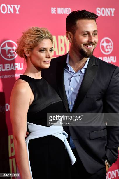 Actress Ashley Greene and Paul Khoury arrive at the Premiere of Sony Pictures' 'Baby Driver' at Ace Hotel on June 14 2017 in Los Angeles California