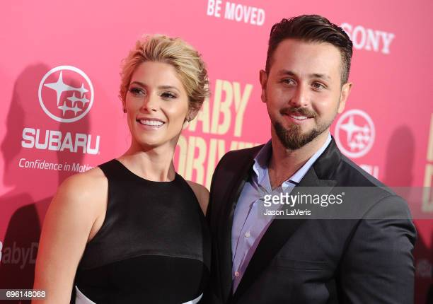 Actress Ashley Greene and Paul Khoury attend the premiere of 'Baby Driver' at Ace Hotel on June 14 2017 in Los Angeles California