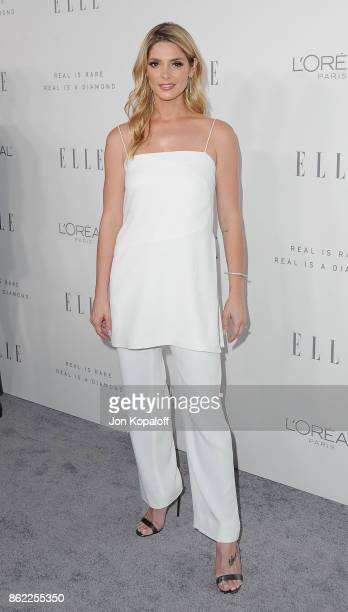 Actress Ashley Greene arrives at ELLE's 24th Annual Women in Hollywood Celebration at Four Seasons Hotel Los Angeles at Beverly Hills on October 16...