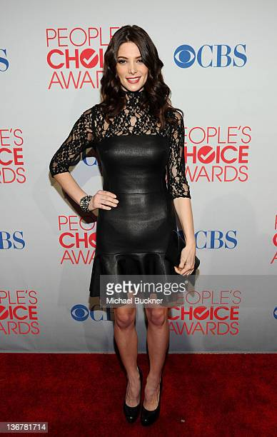 Actress Ashley Greene arrives at the 2012 People's Choice Awards at Nokia Theatre LA Live on January 11 2012 in Los Angeles California