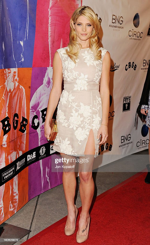 Actress <a gi-track='captionPersonalityLinkClicked' href=/galleries/search?phrase=Ashley+Greene&family=editorial&specificpeople=781552 ng-click='$event.stopPropagation()'>Ashley Greene</a> arrives at the Los Angeles Premiere 'CBGB' at ArcLight Cinemas on October 1, 2013 in Hollywood, California.