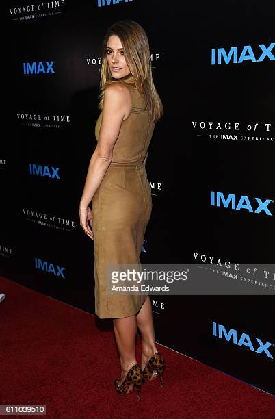 Actress Ashley Greene arrives at the premiere of IMAX's 'Voyage Of Time The IMAX Experience' at the California Science Center on September 28 2016 in...