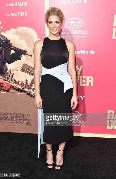 Actress Ashley Greene arrives at the Premiere of Sony Pictures' 'Baby Driver' at Ace Hotel on June 14 2017 in Los Angeles California