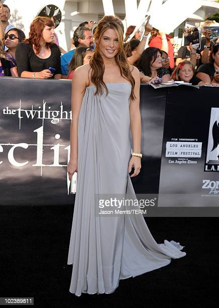 Actress Ashley Greene arrives at the premiere of Summit Entertainment's 'The Twilight Saga Eclipse' during the 2010 Los Angeles Film Festival at...