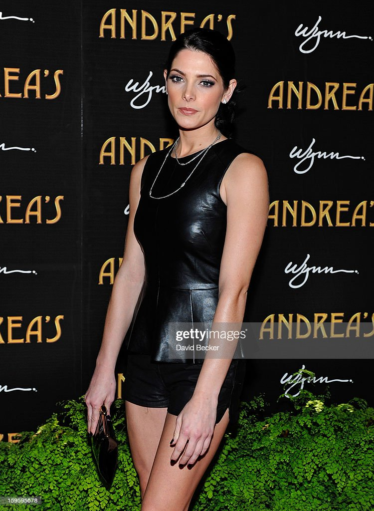 Actress Ashley Greene arrives for the grand opening celebration at Andrea's at the Wynn Las Vegas on January 16, 2013 in Las Vegas, Nevada.