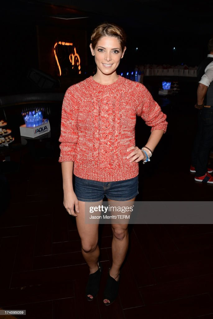 Actress Ashley Greene attends a private event at Hyde Lounge for the Bruno Mars & Ellie Goulding concert hosted by AQUAhydrate at The Staples Center on July 27, 2013 in Los Angeles, California.