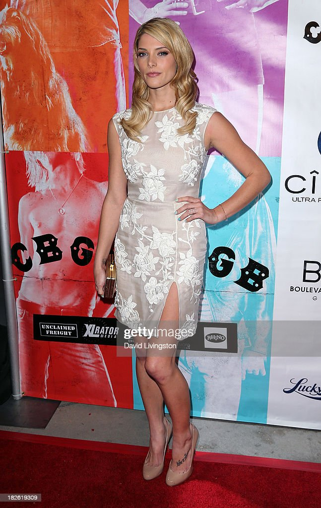 Actress <a gi-track='captionPersonalityLinkClicked' href=/galleries/search?phrase=Ashley+Greene&family=editorial&specificpeople=781552 ng-click='$event.stopPropagation()'>Ashley Greene</a> attends a screening of Xlrator Media's 'CBGB' at ArcLight Cinemas on October 1, 2013 in Hollywood, California.