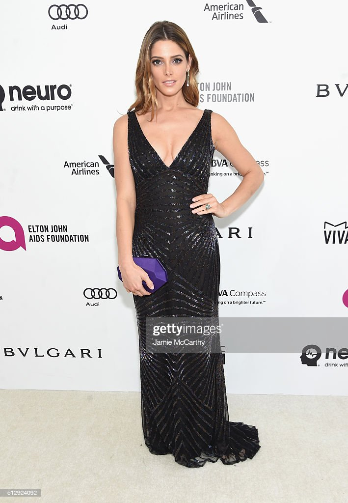Actress Ashley Greene attends the 24th Annual Elton John AIDS Foundation's Oscar Viewing Party at The City of West Hollywood Park on February 28 2016...