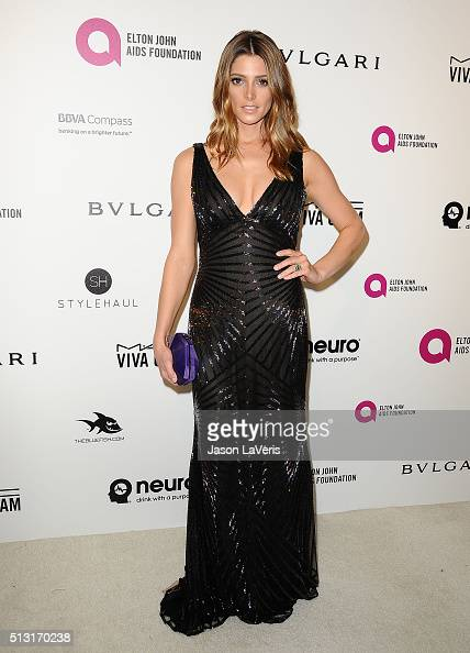 Actress Ashley Greene attends the 24th annual Elton John AIDS Foundation's Oscar viewing party on February 28 2016 in West Hollywood California